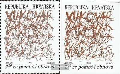 Croatia Z20A,Z20B fine used / cancelled 1992 Reconstruction Vukovar