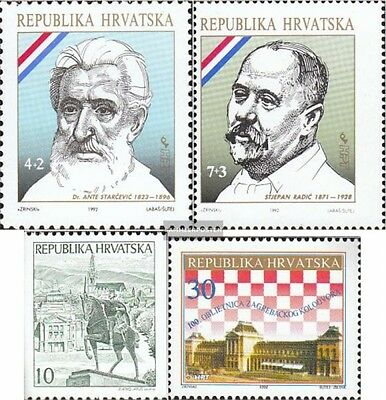 Croatia 191,192,197,200 mint never hinged mnh 1992 special stamps