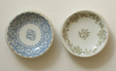 2 Butter Pats Greenwood China Trenton New Jersey Restaurant Ware Round Vintage