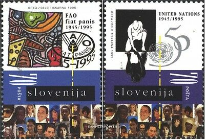 slovenia 123-124 (complete issue) unmounted mint / never hinged 1995 fao and UN