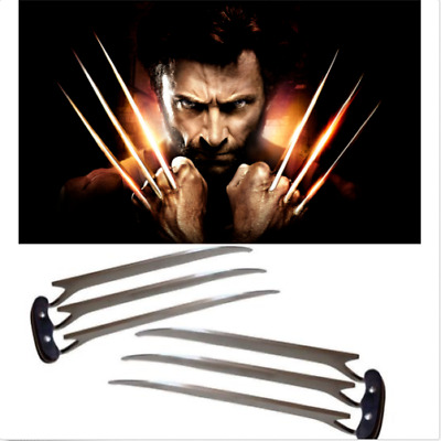 US Ship!1pair/2Pcs Adlut/Kid version Wolverine Claws Hard Plastic Cosplay Props