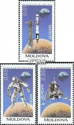 Moldova 106-108 fine used / cancelled 1994 Discoveries and Inventions