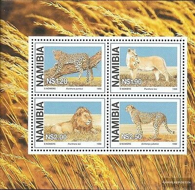 Namibia Block37 mint never hinged mnh 1998 Locals Big Cats