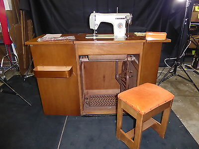 Mitsubishi Manual Foot Pedal Sewing Machine that folds into a Cabinet(390)