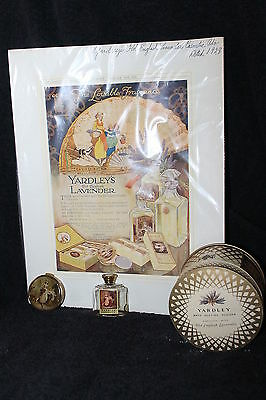 Vintage 1928 Yardley Ad Compact Perfume Bottle And Powder Box Cool Complete Set