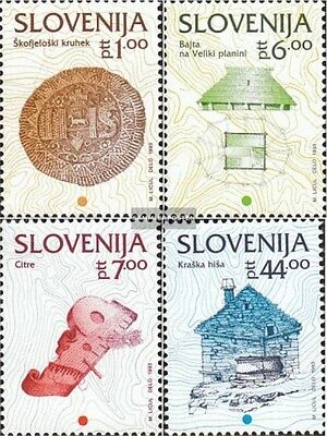 slovenia 39-42 (complete issue) unmounted mint / never hinged 1992 cultural Heri