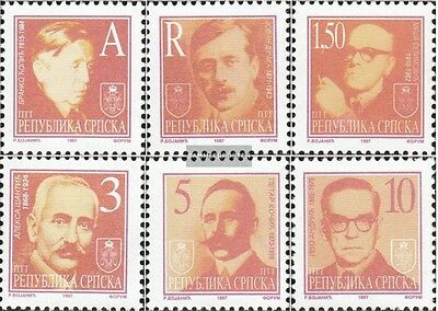 Serbian Republic bos.-h 60-65 mint never hinged mnh 1997 clear brands: Writers