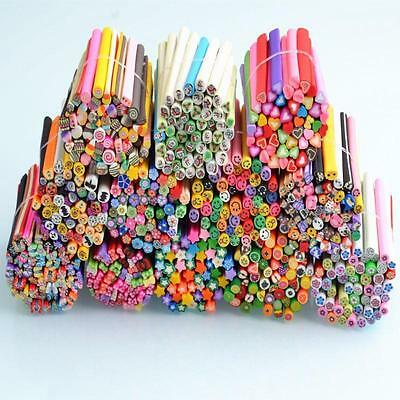 50pcs 3D Nail Art Fimo Stick Rods Polymer Clay Sticker Tips Assorted Styles LOTS