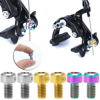 2Pcs M6x10mm V Brake Bolt For Road Bicycle Bike Clamp Clip Press Bolts Screws