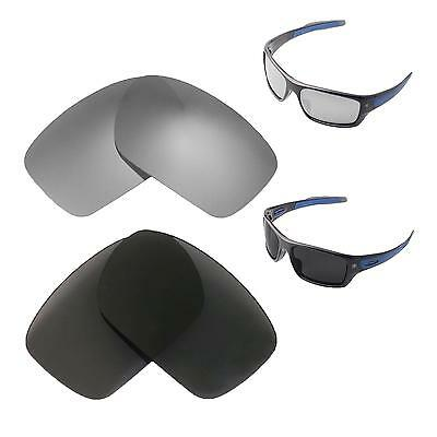 559667446c Walleva Polarized Titanium + Black Lenses For Oakley Turbine Sunglasses