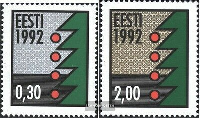 Estonia 195y-196y (complete issue) unmounted mint / never hinged 1992 christmas