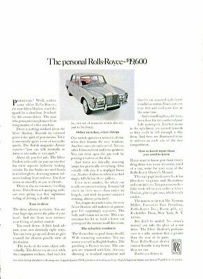 The personal Rolls-Royce - $19,600 ad 1968 1-page version