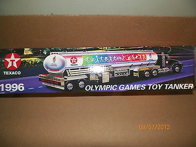1996 Texaco Olympic Games Toy Tanker Plastic Limited Supply Closeout Sale