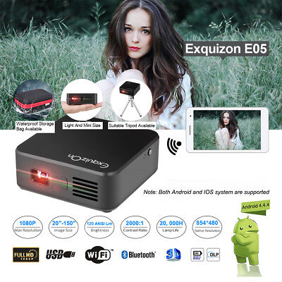 Exquizon E05 Home Cinema Theater DLP Proiettore 1+8GB BT USB Airplay Miracast IT