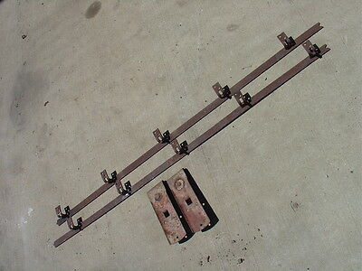 2 Antique National Rollers 10' of Track Sliding Barn Door Pulleys Trolleys
