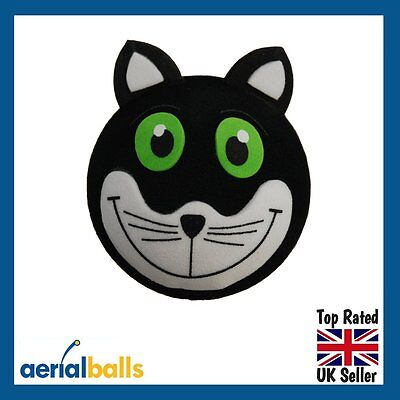 Lucky Black Cat Car Aerial Topper Ball Antenna or use as a Dashboard Wobbler