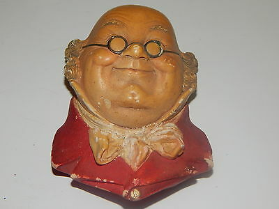 Vintage 1964 Bossons England chalkware head MR. PICKWICK
