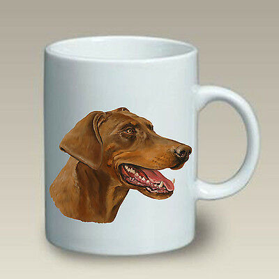 11 oz. Ceramic Mug (LP) - Red Doberman Pinscher, Uncropped 46066