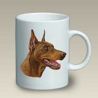 11 oz. Ceramic Mug (LP) - Red Doberman Pinscher 46066