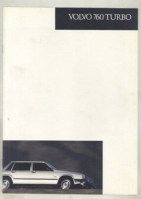 1985 Volvo 760 Turbo Brochure my7201