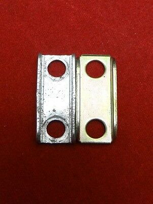 "Two (2) Very Small Brackets 7/8"" x 3/8"" With 11/64"" (4.37mm) Screw Holes"