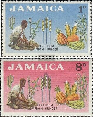 jamaica 203-204 unmounted mint / never hinged 1963 Fight against the Hunger