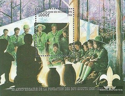 Guinea Block569 (complete.issue.) unmounted mint / never hinged 1998 Scouts-Orga