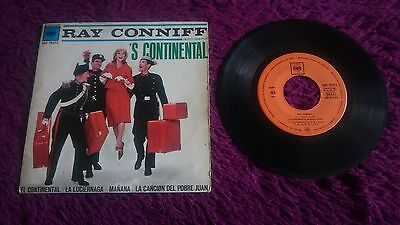 """Ray Conniff His Orchestra & Chorus – 'S Continental , Vinyl, 7"""", EP ,1962 Spain"""