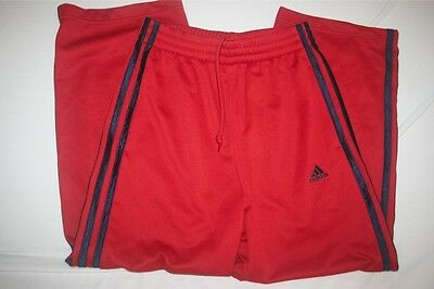 Adidas Climalite Sweat Pants Youth Boys Girls S NEW Red
