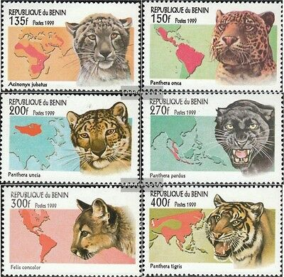 Benin 1192-1197 (complete.issue.) unmounted mint / never hinged 1999 Big Cats