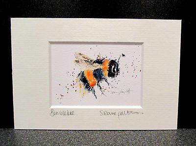 Bumblebee. Mini art print from an original painting by Suzanne Patterson