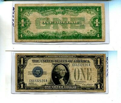 1934 $1 Silver Certificate Currency Note Vg 3000J