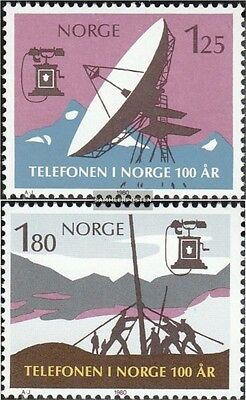 Norway 815-816 (complete issue) unmounted mint / never hinged 1980 Phone in Norw