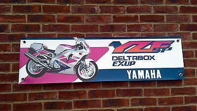 Br87 Yamaha Yzf750Sp Banner Yzf750 Pink And White Workshop Sign