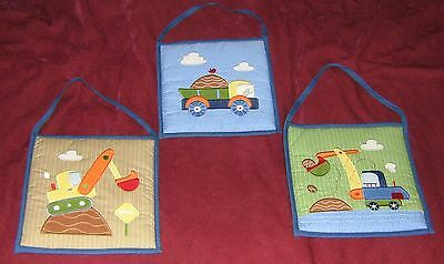 Circo Baby Quilted Fabric Wall Decor - Set Of 3 - Trucks