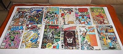 Vintage DC & Marvel Comic Books Mixed Lot Of 12