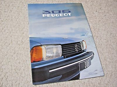 1979 Peugeot 305 Sales Brochure In English..