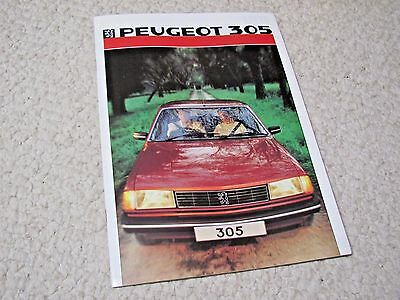 1986 Peugeot 305 Sales Brochure In English..