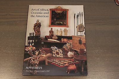 Sotheby's Art of Africa Oceania and The Americas Auction Catalog 1997