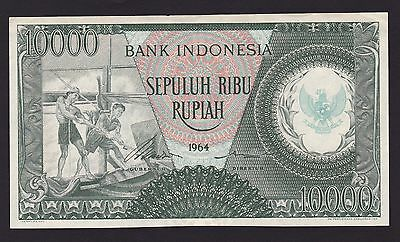 Indonesia 1964 10,000 Rupiah Watermark:row Of Arms At Center