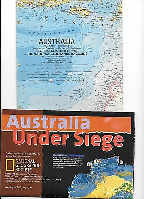 Australia- 4 Great Nat. Geographic Map Special Editions
