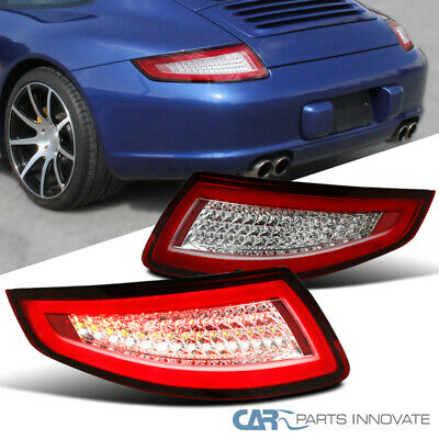 05-08 Porsche 911/997 GT3 GT2 Turbo Carrera Targa Red Clear Lens LED Tail Lights