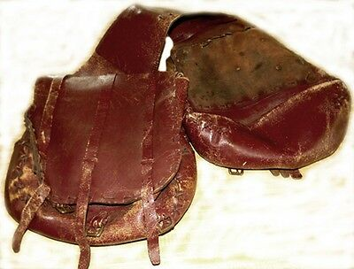 Vintage Antique Primitive Old West Era Saddlebags Saddlebag