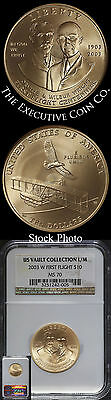 2003-W First Flight US Vault Collection L/M $10 NGC MS70 Perfect Coin - Stock