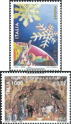Italy 2737-2738 (complete.issue.) unmounted mint / never hinged 2000 christmas