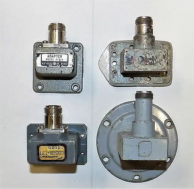 Lot Of 4 Waveguide Coax Adapter Assembly Andrew 55983-137 Hp H281A