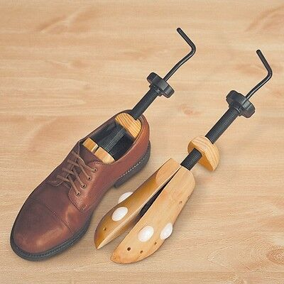 Men's Two-Way Professional Wooden Shoe Stretchers - Fits Sizes 9-14