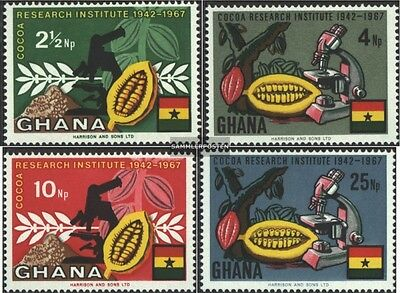 Ghana 334A-337A (complete.issue.) unmounted mint / never hinged 1968 cocoa