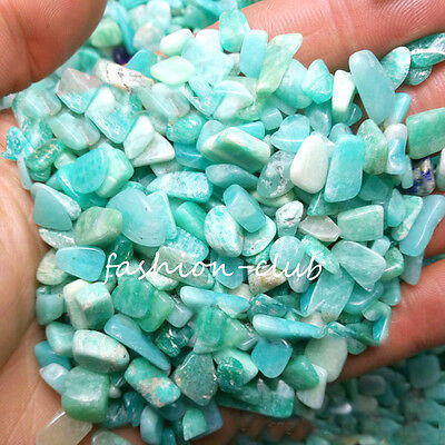 50g Natural Amazonite Quartz Crystal Rock Stone Chips Mineral Specimen Healing