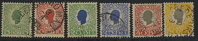 Danish West Indies 31 to 36 used set (36 CTO) w/cds - Christian Den Mende
